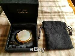 18K GOLD Estee Lauder Audemars Piguet Mother of Pearl Promesse Compact RARE