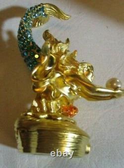 2000 Estee Lauder Sparkling Crystal Mermaid Solid Pleasures Perfume Compact