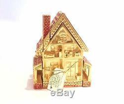 2001 Estee Lauder Victorian Dollhouse Beautiful Solid Compact BOX