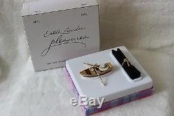 2002 ESTEE LAUDER Pleasures Boat Ride Perfume Solid Compact Pristine NEW RARE