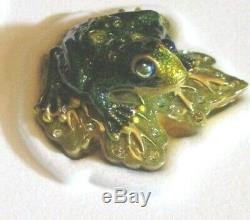 2002 Estee Lauder Enamel Frog Solid White Linen Perfume Compact Jay Strongwater