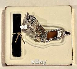 2002 Estee Lauder Pleasures Solid Perfume Compact Zebra