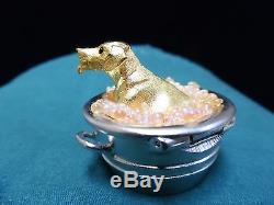 2002 Puppy in a Tub Estee Lauder Solid Perfume Compact NIB