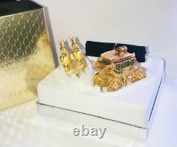2003 Estee Lauder PLEASURES GILDED STAGECOACH Solid Perfume Compact