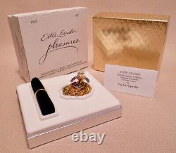 2003 Estee Lauder Perfume Solid Jeweled Nest Egg Compact Pleasures Strongwater