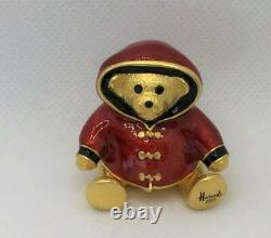 2003 HARRODS/Estee Lauder BEAUTIFUL HARRODS TEDDY BEAR Solid Perfume Compact