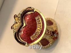 2004 Estee Lauder Bustier Beautiful Solid Perfume Compact BOX