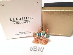 2005 Estee Lauder Radiant Fish Coral Beautiful Solid Compact BOX