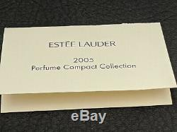 2005 Estee Lauder WHITE LINEN BEJEWELED BOTTLE Solid Perfume Compact Pouch & Box