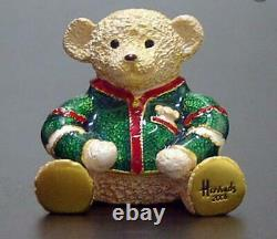 2006 HARRODS/Estee Lauder BEAUTIFUL HARRODS TEDDY BEAR Solid Perfume Compact