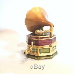 2007 Estee Lauder Jay Strongwater Glorious Gramophone Perfume Compact BOX
