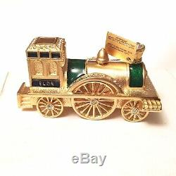 2008 Estee Lauder Antique Train Solid Perfume Sensuous NOS Box