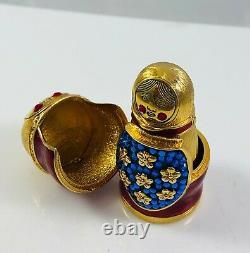 2008 Estee Lauder Beautiful Solid Perfume Compact Russian Nesting Doll