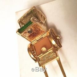 2009 Estee Lauder Golden Rickshaw Solid Perfume Compact NOS BOX Pleasures