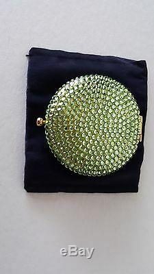 Bnib, Collectible Estee Lauder Green Compact-crystals On Both Sides. Excellent