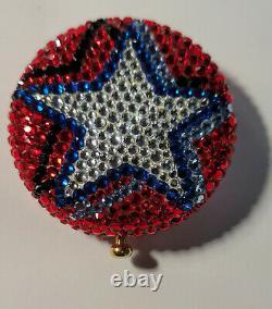 Designer Kathrine Baumann Estee Lauder Powder Compact Patriotic Stars