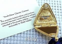 ESTEE LAUDER 2004 CAMEO SOLID PERFUME NECKLACE COMPACT in Orig BOXES