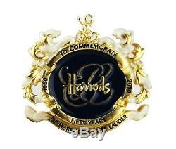 ESTEE LAUDER 2010 RARE BLUE HARRODS 50th ANNIVERSARY EMPTY COMPACT NO PERFUME