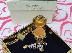 ESTEE LAUDER AERIN COLLECTION GARDENIA NECKLACE SOLID PERFUME COMPACT in BOX MIB