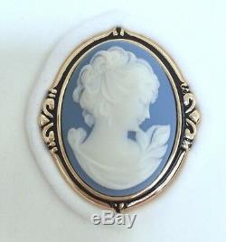 ESTEE LAUDER BLUE CAMEO VINTAGE SOLID PERFUME COMPACT in Orig. BOX Circa 1986