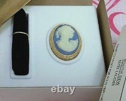 ESTEE LAUDER BLUE CAMEO VINTAGE YOUTH-DEW SOLID PERFUME COMPACT in Orig. BOX MIB