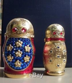 ESTEE LAUDER Beautiful Solid Perfume Matryoska Nesting Doll 2008 Compact New