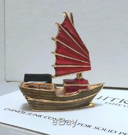 ESTEE LAUDER CHINESE JUNK COMPACT with INTUITION SOLID PERFUME in Original BOXES