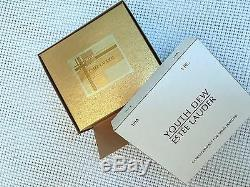 ESTEE LAUDER CORAL CAMEO SOLID PERFUME COMPACT AUSTRIAN CRYSTALS Orig BOXES RARE