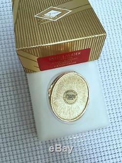 ESTEE LAUDER CORAL CAMEO SOLID PERFUME COMPACT in Orig BOXES MIB