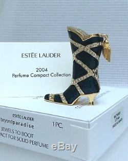 ESTEE LAUDER COWGIRL JEWELS TO BOOT SOLID PERFUME COMPACT in Orig. BOXES NEW