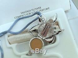 ESTEE LAUDER FANTASY FLOWER NECKLACE SOLID PERFUME COMPACT in ART DECO Orig. BOX