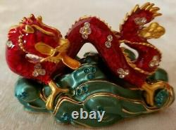 ESTEE LAUDER LUCKY DRAGON from 2005 SOLID PERFUME COMPACT MIBB