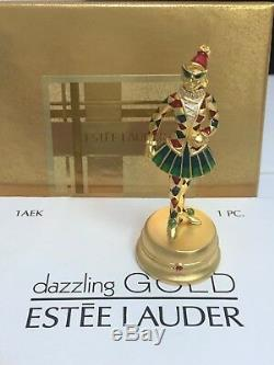 ESTEE LAUDER PIROUETTE HARLEQUIN SOLID PERFUME COLLECTABLE COMPACT / Orig BOXES