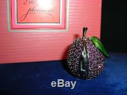 ESTEE LAUDER PLUM BEAUTIFUL SOLID PERFUME COMPACT Purple 1998 Unused In Box