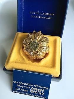 ESTEE LAUDER TANGERINE with YOUTH-DEW SOLID PERFUME COMPACT in Orig 1972 BOX RARE