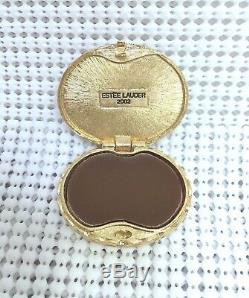 ESTEE LAUDER YOUTH-DEW BLUE CAMEO SOLID PERFUME COMPACT in Orig. BOX MIB c. 1986