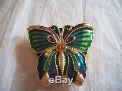 Estee Lauder 1993 Open Wing Butterfly Perfume Compact Full Mint