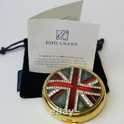 Estee Lauder 1997 Union Jack British United Kingdom Flag Lucidity Compact MIBB