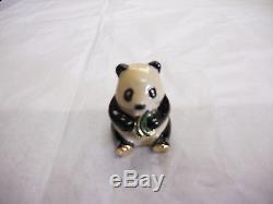 Estee Lauder 1998 Solid Perfume Compact Panda Mint Full