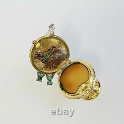Estee Lauder 2001 Solid Perfume Compact Birdbath MIB Pleasures