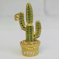 Estee Lauder 2001 Solid Perfume Compact Crystal Cactus Southwest MIB Pleasures
