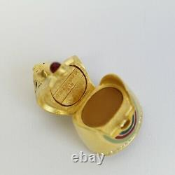 Estee Lauder 2001 Solid Perfume Compact Golded Sphinx Eygpt Pharaoh MIB