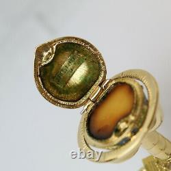 Estee Lauder 2001 Solid Perfume Compact Standing World Globe MIBB Pleasures
