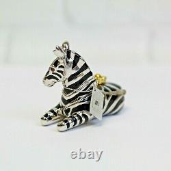 Estee Lauder 2001 Solid Perfume Compact Zebra Swarovski Enamel MIBB Pleasures
