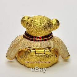 Estee Lauder 2002 HARRODS CHRISTMAS TEDDY BEAR Compact for Solid Perfume NIB
