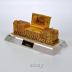 Estee Lauder 2002 HARRODS PALACE Solid Perfume Compact NIB Perpex Stand Included