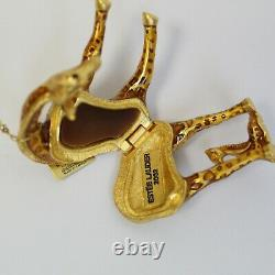 Estee Lauder 2002 Solid Perfume Compact Gilded Giraffe Mom & Baby MIBB Youth Dew