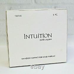 Estee Lauder 2002 Solid Perfume Compact Matador Bull Fighting MIBB Intuition