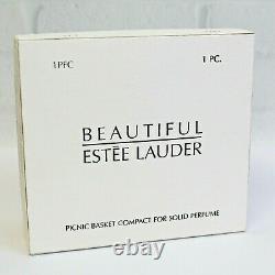 Estee Lauder 2002 Solid Perfume Compact Picnic Basket MIBB Beautiful
