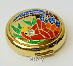 Estee Lauder 2002 Tropical Mosaics Parrot Swarovski Lucidity 06 Compact MIBB